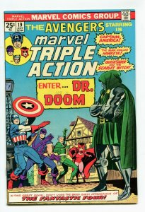 Marvel Triple Action 19 VF/NM 9.0 Avengers Marvel 1974 Uncertified FREE SHIP