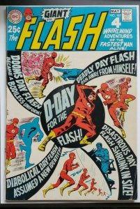 DC Flash #187 6.0 FN D-Day For The Flash! Nice Copy