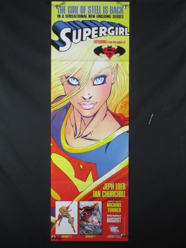 Supergirl DC Comics Promo Poster 2005 34x11