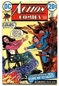 ACTION COMICS #416 comic book 1972-SUPERMAN-CRIPPLE COVER-20 CENT
