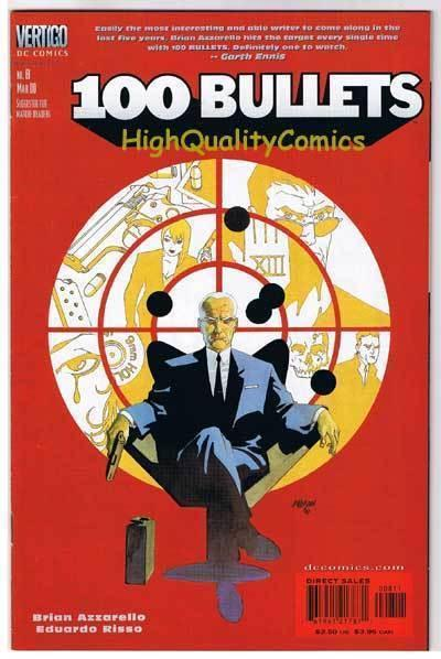100 BULLETS #8, NM, Brian Azzarello, Risso ,Vertigo,1999, more in store