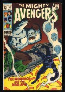 Avengers #62 FN+ 6.5 1st Man-Ape!