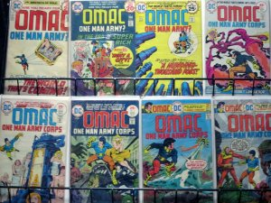OMAC #1-8 (DC, 1974) COMPLETE! Written, Drawn & Created by Jack Kirby! ReaderSet