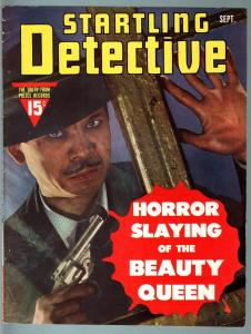 STARTLING DETECTIVE SEP 1942-MURDER IN THE SWITCHYARDS-HORROR SLAYING--FN/VF