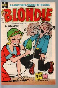 Blondie # 67 1954-Harvey-gardening cover-Chic Young-file copy-VF