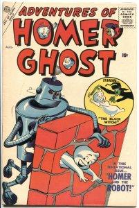 ADVENTURES OF HOMER GHOST #2-1957-ATLAS-ROBOT COVER & STORY-HIGH GRADE-RARE