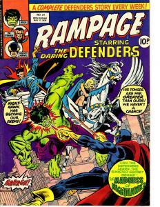 Rampage (Marvel UK May 17 1978) #31 Defenders Nighthawk vs Defenders Valkyrie