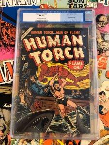 Human Torch #37 F- 5.5 sub-mariner BILL EVERETT atlas comics GOLDEN AGE 1954
