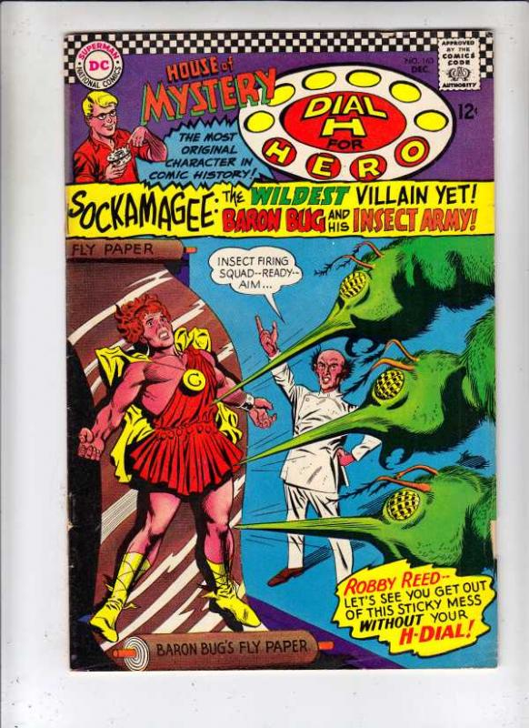 House of Mystery #163 (Dec-66) FN+ Mid-Grade Martian Manhunter, Dial H. for H...