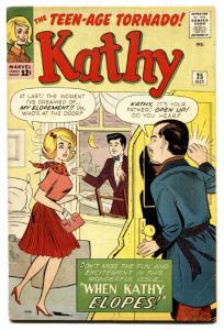 Kathy #25 1963- Marvel Humor- Stan Goldberg Kathy Elopes!!! VG+