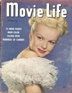MOVIE LIFE - FEB 1947-JUNE HAVER-ESTHER WILLIAMS-GEORGE MONTGOMERY-H BOGART