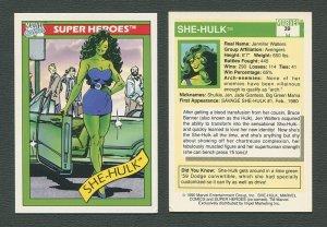 1990 Marvel Comics Card  #39 (She Hulk) / NM+