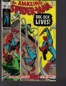 Amazing Spider-Man #89 (Marvel, 1970) GD
