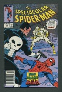 Peter Parker,Spectacular Spiderman #143 / 9.4 NM Newsstand October 1988