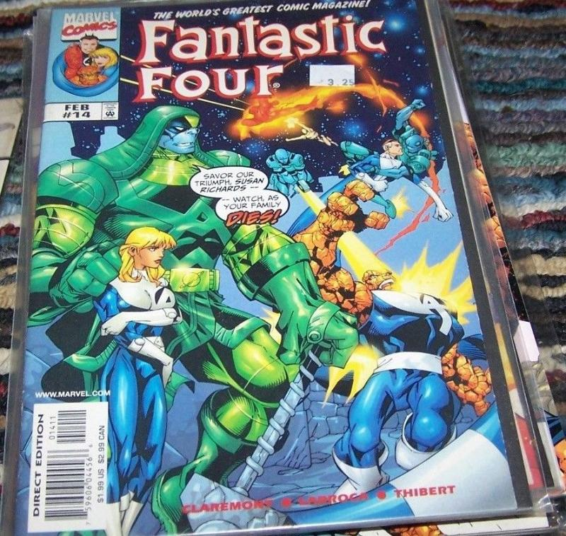 FANTASTIC FOUR #14 vol 3 1999  marvel - rowan +kree on the moon inhumans ?