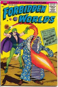 Forbidden Worlds #128 1965-ACG-Magicman-Merlin-Pete Costanza-FN