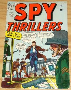 Spy Thrillers #2 VG january 1955 - rick davis - atlas comics - golden age war