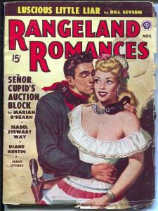 Rangeland Romances 11/1948-Popular-Art Lawson-masked girl cover-VG