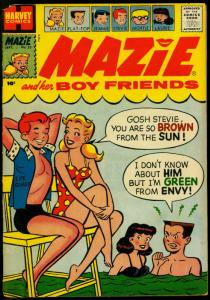 Mazie and Her Boy Friends #23 1957- Harvey Comics- Life Guard cover G/VG