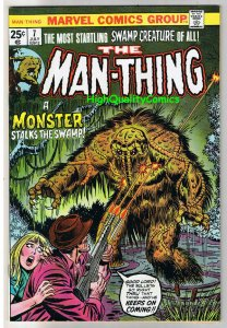 MAN-THING #7, VF-, Steve Gerber, Mike Ploog, 1974, Fear, more in store