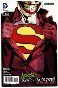 ADVENTURES OF SUPERMAN #14-2014-JOKER COVER