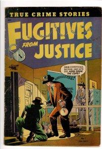 FUGITIVES FROM JUSTICE #1  (1952 ST JOHN).VG 1trsp.Gene Colan art