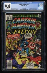 Captain America #217 CGC NM/M 9.8 1st Print 1st Quasar (Marvel Boy)!