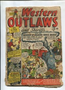 WESTERN OUTLAWS AND SHERIFFS #62 1950-ATLAS-GHOST RYDER-P