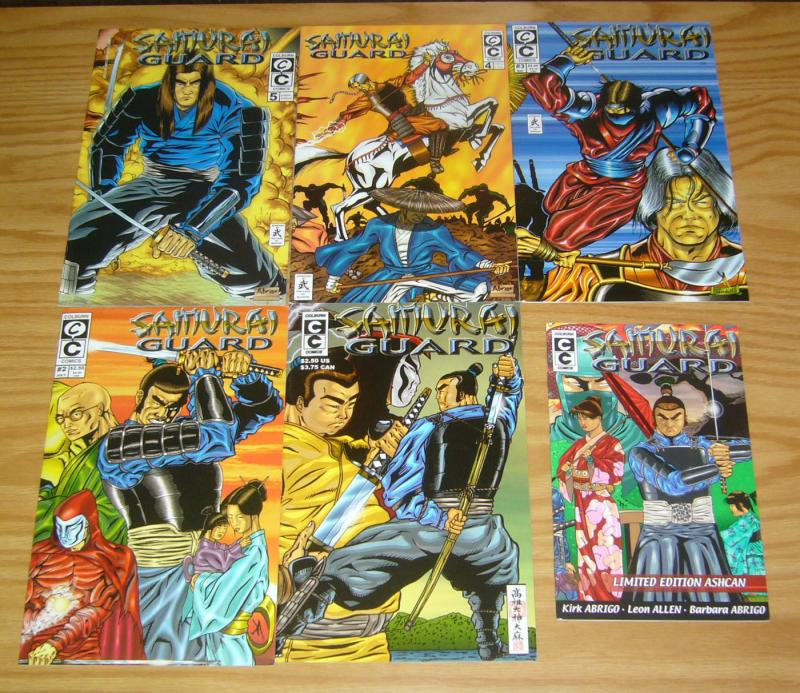 Samurai Guard #1-5 VF/NM complete series + limited edition ashcan 2 3 4 set lot