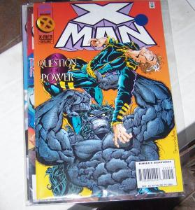 X-MAN  #  9 nov  1995  NATE GRAY young  cable dark beast