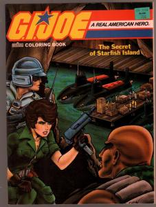 G.I. Joe Coloring Book 1987-Secret of Starfish Island-Frank Stringer-VF