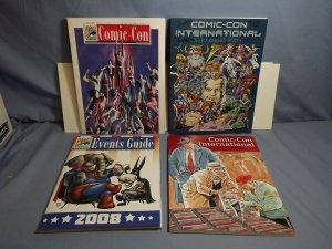 Four San Diego Comic-Con SDCC Souvenir Programs AUTOGRAPHED 2004 2005 2008 RARE!