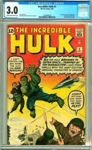 Incredible Hulk #3 (CGC 3.0) C-O/W pages; 1st app. Ringmaster; Kirby