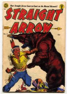 Straight Arrow #3 1950- FRAZETTA BEAR COVER- western G