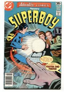 ADVENTURE #458 1978 Phantom Zone-Superboy-comic book