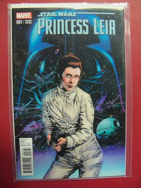 PRINCESS LEIA #001 BUTCH GUICE 1:25 VARIANT COVER NM 9.4  2015 SERIES