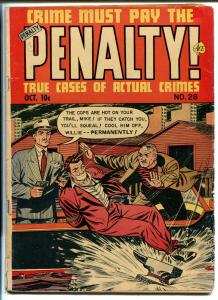CRIME MUST PAY THE PENALTY #28 1952-ACE-MURDER-VIOLENT CRIME-EXPLOSIONS-vg