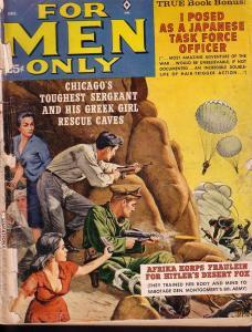 FOR MEN ONLY APR 1961 WW II PARACHUTE COVER KUNSTLER FR