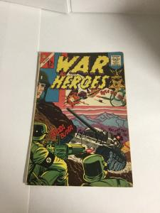 Army War Heroes 3 Vg+ Very Good+ 4.5 Charlton Comics Silver Age