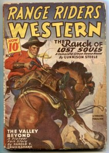 Range Riders Western Pulp November 1946-  Ranch of Lost Sould