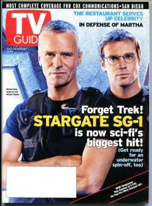 STARGATE TV guide, Richard Anderson, Michael Shanks, July 2003, more in store
