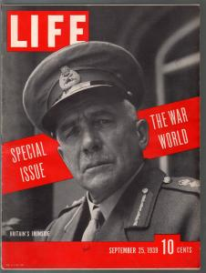 Life 9/25/1939-special issue-The War World-Hitler-pix-maps-info-FN