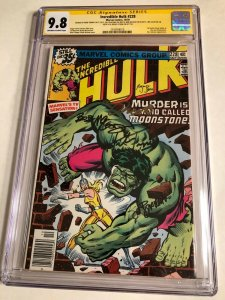 CGC SS 9.8 Incredible Hulk #228 signed by Trimpe Buscema McLeod Shooter & Stern