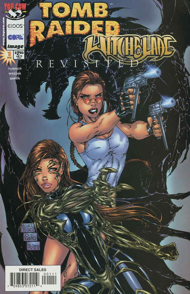 Tomb Raider Witchblade 1 2nd Vf Nm Image Save On Shipping