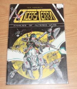 tigers of terra comic # 3 1986  mind visions manga anime  WAR RARE HTF