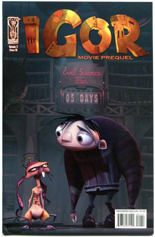IGOR Movie Prequel #1, VF+, Variant, 2008, IDW, John Cusack, more in store