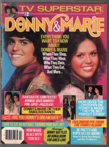 TV Superstar 2/1977-Sterling-Donny & Marie issue-pix-info-FN-