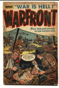 Warfront #2 1951-INJURED GI cvr-Harvey War Comic- Korea- Nurse FR/G