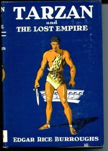 Tarzan and The Lost Empire1948-ERB-hardback cover-fire survivor-original dj-VF+