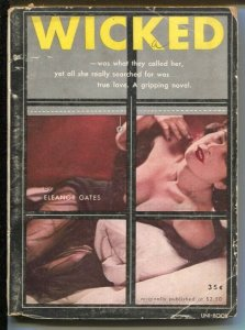 Uni-Books1950-Wcked-Eleanor Gates-pulp digest format-G/VG